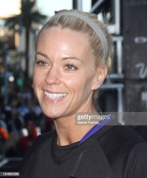 TV personality Kate Gosselin attends the Zapposcom Rock 'N' Roll Las Vegas Marathon and 1/2 Marathon benefiting the Crohn's Colitis Foundation of...