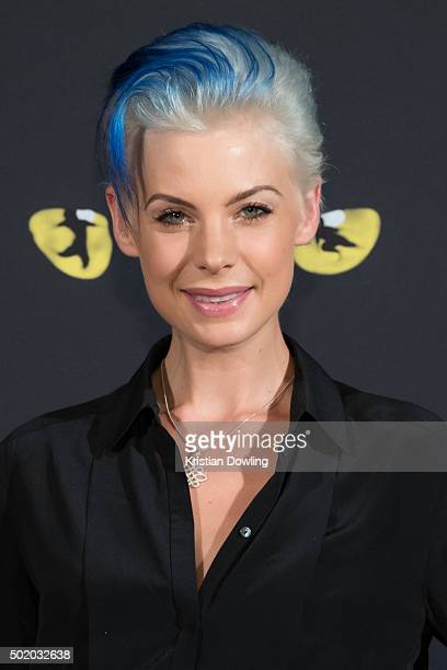 Personality Kate Peck arrives ahead of CATS Opening Night at Regent Theatre on December 20 2015 in Melbourne Australia