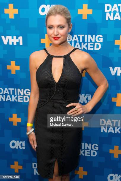 TV personality Katherine Bailess attends the 'Dating Naked' series premiere at Gansevoort Park Avenue on July 16 2014 in New York City