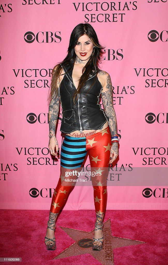 TV Personality Katherine von Drachenberg aka Kat Von D arrives at The 2007 Victoria's Secret Fashion Show held at Kodak Theater on November 15, 2007 in Hollywood, California.