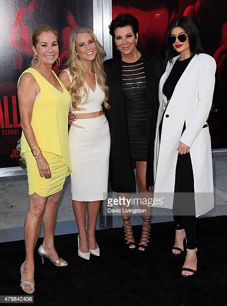 TV personality Kathie Lee Gifford daughter actress Cassidy Gifford TV personality Kris Jenner and daughter TV personality Kylie Jenner attend the...