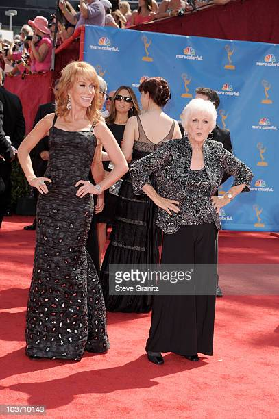 TV personality Kathy Griffin and Maggie Griffin arrive at the 62nd Annual Primetime Emmy Awards held at the Nokia Theatre LA Live on August 29 2010...