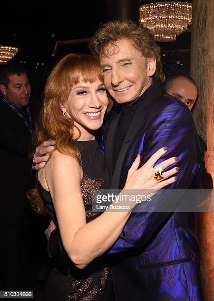 TV personality Kathy Griffin and musician Barry Manilow attend the 2016 PreGRAMMY Gala and Salute to Industry Icons honoring Irving Azoff at The...