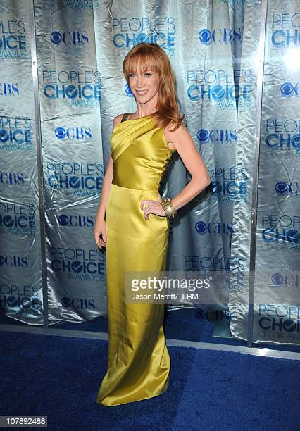 TV personality Kathy Griffin arrives at the 2011 People's Choice Awards at Nokia Theatre LA Live on January 5 2011 in Los Angeles California