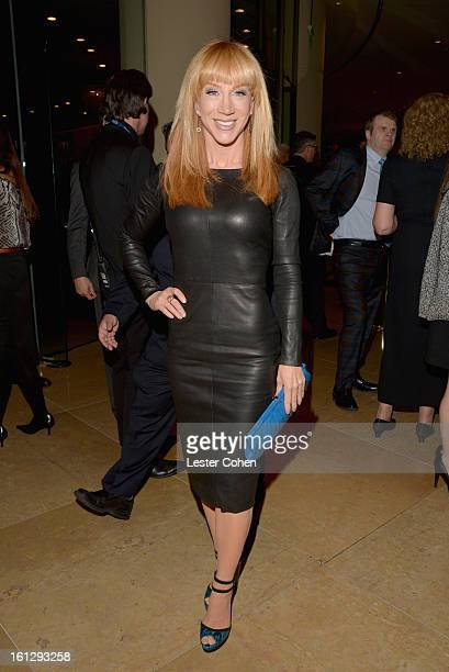 TV personality Kathy Griffin arrives at the 55th Annual GRAMMY Awards PreGRAMMY Gala and Salute to Industry Icons honoring LA Reid held at The...