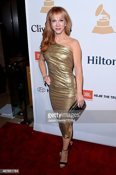TV personality Kathy Griffin attends the PreGRAMMY Gala and Salute To Industry Icons honoring Martin Bandier at The Beverly Hilton Hotel on February...