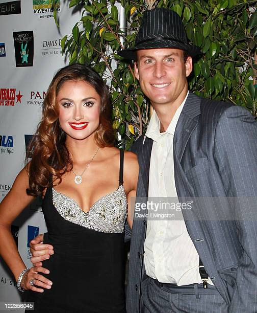 TV personality Katie Cleary and Andrew Stern attend the 1st Annual Diamonds Not Fur Gala to benefit SPCALA at Voyeur on August 27 2011 in West...