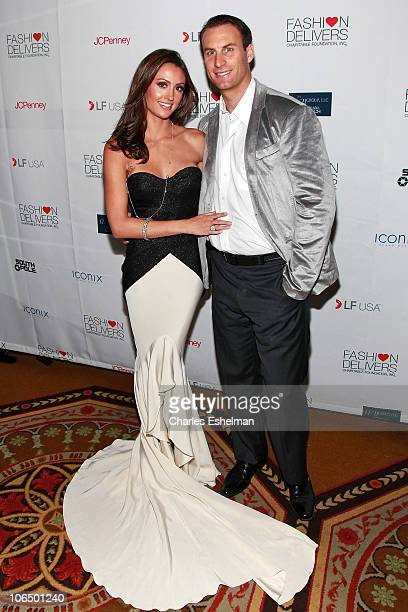 TV personality Katie Cleary and Andrew Stern attend the 5th Annual Fashion Delivers Gala at The Waldorf Astoria on November 3 2010 in New York City