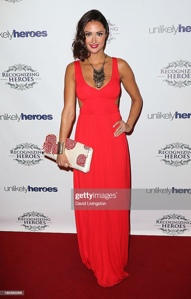 TV personality Katie Cleary attends the Unlikely Heroes' Recognizing Heroes Awards Dinner & Gala at The Living Room at The W Hotel on October 19, 2013 in Los Angeles, California.