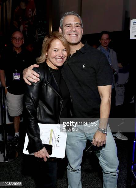 Personality Katie Couric and SiriusXM host Andy Cohen attend day 3 of SiriusXM at Super Bowl LIV on January 31, 2020 in Miami, Florida.