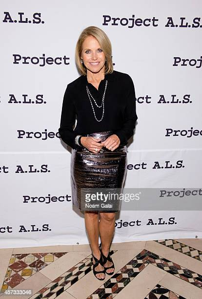 Personality Katie Couric attends the 16th Annual Tomorrow Is Tonight Gala Benefiting Project A.L.S. At Cipriani 42nd Street on October 16, 2014 in...