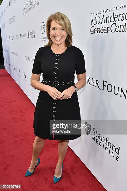 TV personality Katie Couric attends the launch of the Parker Institute for Cancer Immunotherapy an unprecedented collaboration between the country's...