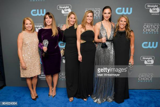TV personality Katie Couric director Patty Jenkins SeeHer Award recipient Gal Gadot and SeeHer executives attend The 23rd Annual Critics' Choice...