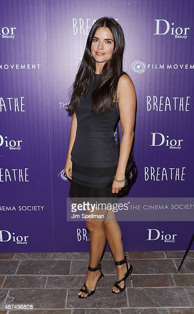TV personality Katie Lee attends a screening of Film Movement's 'Breathe' hosted by The Cinema Society and Dior Beauty at Tribeca Grand Hotel on...
