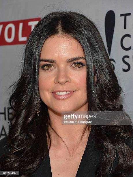 TV personality Katie Lee attends REVOLT and The National Cable and Telecommunications Association's Celebration of Cable at Belasco Theatre on April...