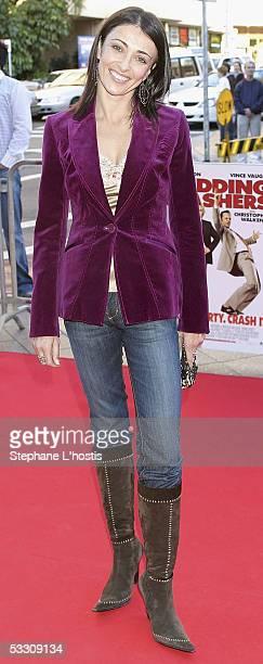 TV personality Katrina Warren attends the Australian premiere of 'Wedding Crashers' at Greater Union Westfield Bondi Junction on July 31 2005 in...