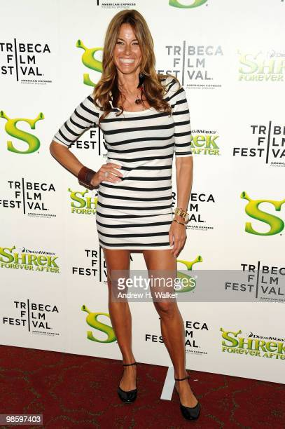 TV personality Kelly Bensimon attends the 2010 Tribeca Film Festival opening night premiere of Shrek Forever After at the Ziegfeld Theatre on April...