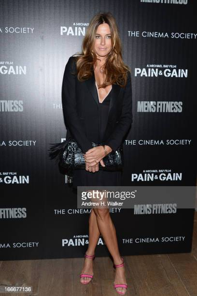 TV personality Kelly Bensimon attends the Cinema Society screening of 'Pain And Gain' at Crosby Street Hotel on April 15 2013 in New York City
