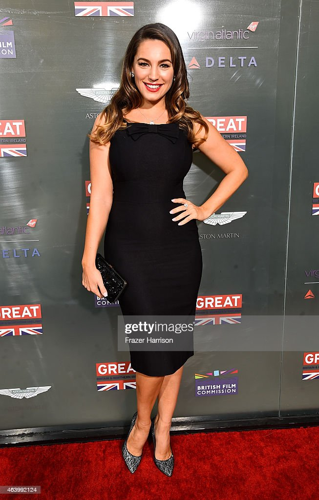 TV personality Kelly Brook attends the GREAT British film reception honoring the British nominees of the 87th Annual Academy Awards at The London West Hollywood on February 20, 2015 in West Hollywood, California.