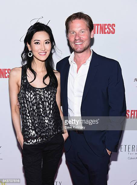 TV personality Kelly Choi and CEO of Galvanized Media David Zinczenko attend the MEN'S FITNESS Red Hot Summer Party on June 29 2016 in New York City