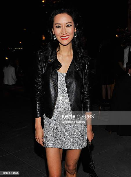 TV personality Kelly Choi attends the after party for a special screening of Rush hosted by Ferrari And The Cinema Society at Hotel Americano on...
