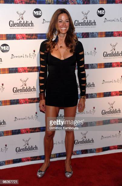 "Personality Kelly Killoren Bensimon attends the 8th annual ""Dressed To Kilt"" Charity Fashion Show presented by Glenfiddich at M2 Ultra Lounge on..."