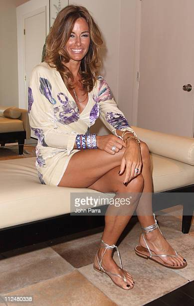 TV Personality Kelly Killoren Bensimon poses during her jewelry trunk show at Alene Too on October 7 2009 in Boca Raton Florida