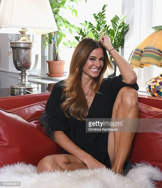 TV personality Kelly Killoren Bensimon poses for a private photo shoot at her private residence on May 15 2015 in New York City