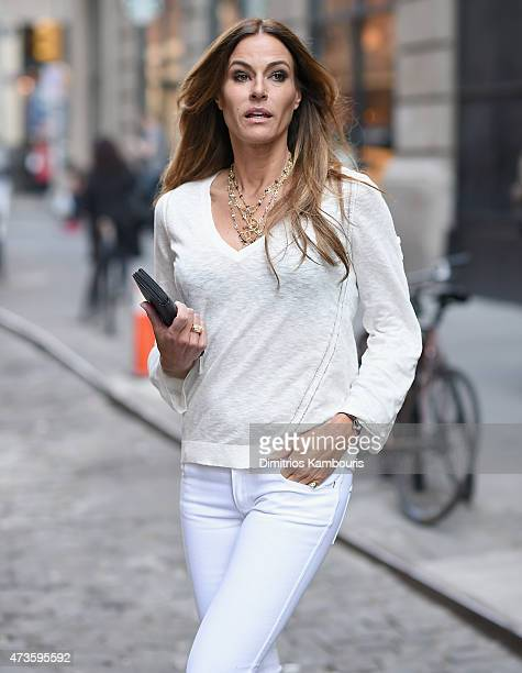 TV personality Kelly Killoren Bensimon poses for a private photo shoot in SoHo on May 15 2015 in New York City