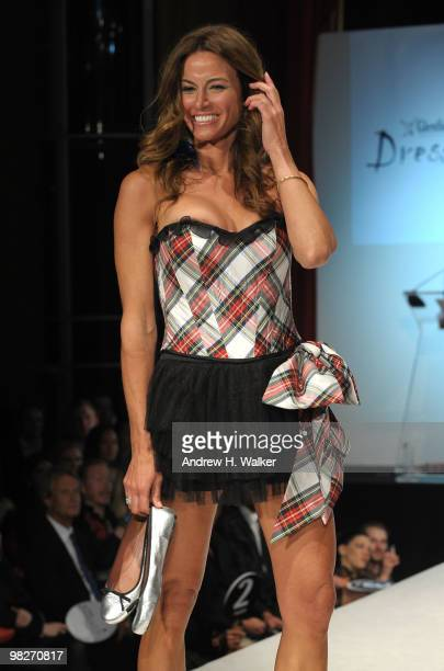 TV personality Kelly Killoren Bensimon walks the runway at the 8th annual Dressed To Kilt Charity Fashion Show presented by Glenfiddich at M2 Ultra...