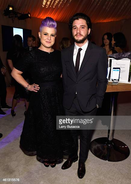 TV personality Kelly Osbourne and actor Kit Harington attend the Art of Elysium and Samsung Galaxy present Marina Abramovic's HEAVEN at GREY...