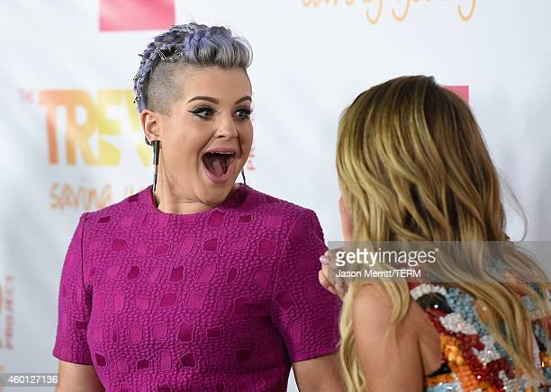 TV personality Kelly Osbourne and actress Sarah Hyland attend TrevorLIVE LA Honoring Robert Greenblatt Yahoo and Skylar Kergil for The Trevor Project...