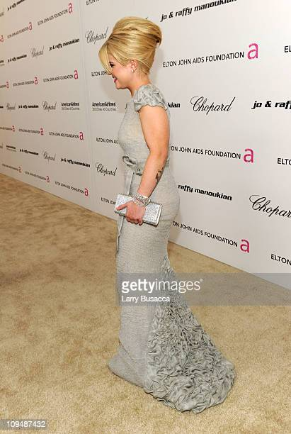 TV personality Kelly Osbourne arrives at the 19th Annual Elton John AIDS Foundation Academy Awards Viewing Party at the Pacific Design Center on...