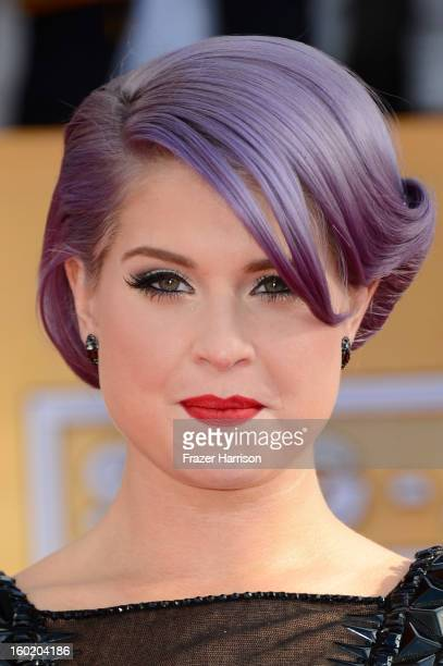 TV personality Kelly Osbourne arrives at the 19th Annual Screen Actors Guild Awards held at The Shrine Auditorium on January 27 2013 in Los Angeles...