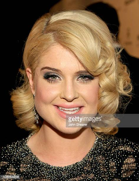 TV personality Kelly Osbourne arrives at the 2011 Art Of Elysium Heaven Gala held at the California Science Center on January 15 2011 in Los Angeles...
