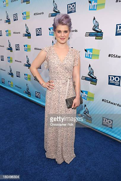 TV personality Kelly Osbourne arrives at the 2012 Do Something Awards at Barker Hangar on August 19 2012 in Santa Monica California