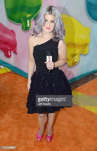 TV personality Kelly Osbourne arrives at the 2012 Nickelodeon's Kids' Choice Awards at Galen Center on March 31 2012 in Los Angeles California