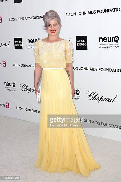 TV personality Kelly Osbourne arrives at the 20th Annual Elton John AIDS Foundation's Oscar Viewing Party held at West Hollywood Park on February 26...