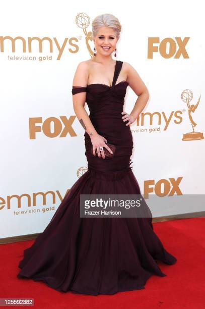 TV personality Kelly Osbourne arrives at the 63rd Annual Primetime Emmy Awards held at Nokia Theatre LA LIVE on September 18 2011 in Los Angeles...