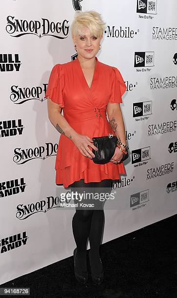TV personality Kelly Osbourne arrives at the Famous Stars And Straps 10th Anniversary and Snoop Dogg 10th Album Release at Vanguard on December 8...