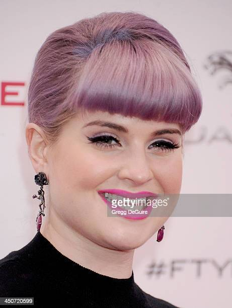 TV personality Kelly Osbourne arrives at the Jaguar FTYPE Coupe launch party at Raleigh Studios on November 19 2013 in Playa Vista California