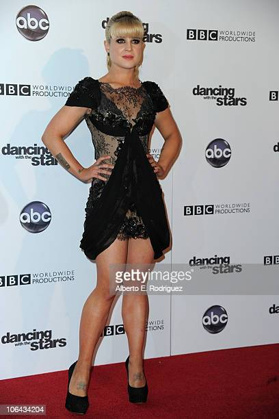 TV personality Kelly Osbourne arrives to ABC's 'Dancing With The Stars' 200th episode party on November 1 2010 in Los Angeles California