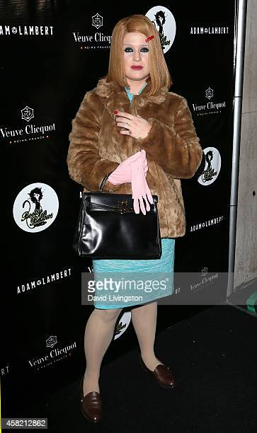 TV personality Kelly Osbourne attends Adam Lambert's 2nd Annual Halloween Bash at Bootsy Bellows on October 31 2014 in West Hollywood California