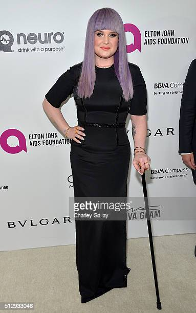 TV personality Kelly Osbourne attends Neuro at the 24th Annual Elton John AIDS Foundation's Oscar Viewing Party at The City of West Hollywood Park on...