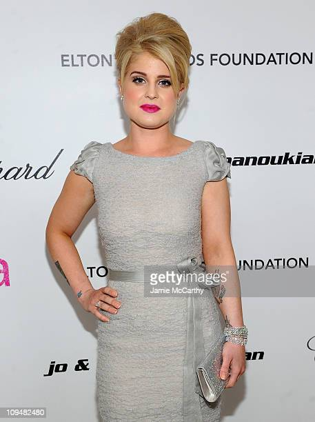 Personality Kelly Osbourne attends the 19th Annual Elton John AIDS Foundation Academy Awards Viewing Party at the Pacific Design Center on February...