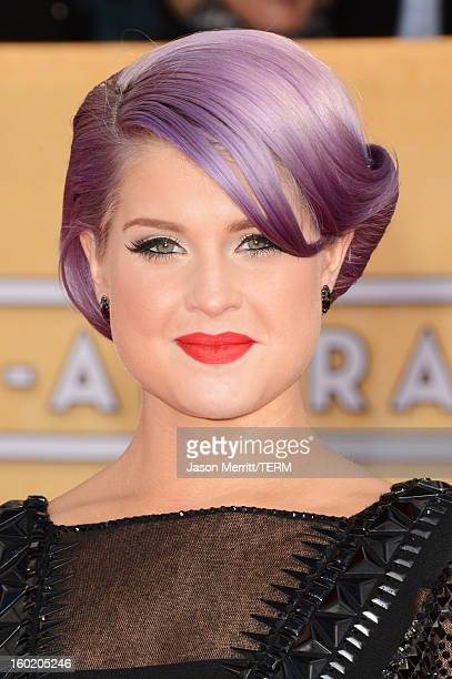 TV personality Kelly Osbourne attends the 19th Annual Screen Actors Guild Awards at The Shrine Auditorium on January 27 2013 in Los Angeles...