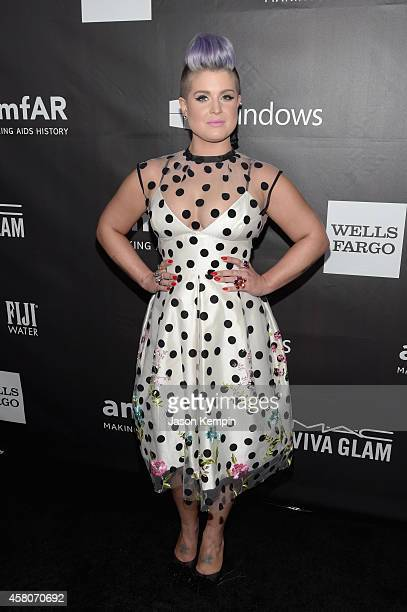 TV personality Kelly Osbourne attends the 2014 amfAR LA Inspiration Gala at Milk Studios on October 29 2014 in Hollywood California
