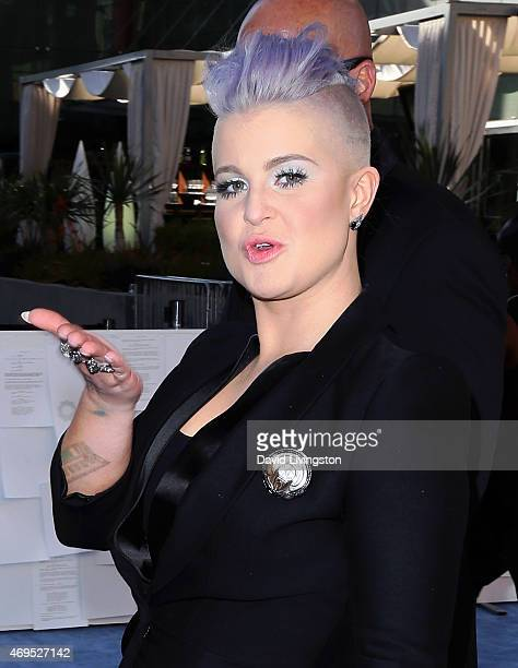TV personality Kelly Osbourne attends the 2015 MTV Movie Awards at the Nokia Theatre LA Live on April 12 2015 in Los Angeles California