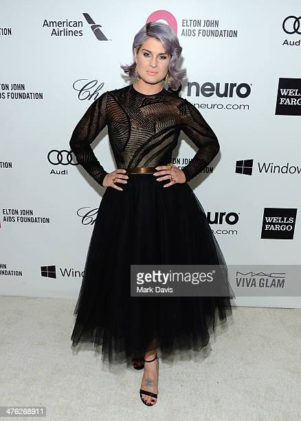 TV personality Kelly Osbourne attends the 22nd Annual Elton John AIDS Foundation's Oscar Viewing Party on March 2 2014 in Los Angeles California