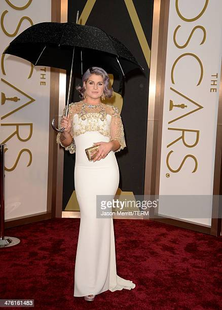 Personality Kelly Osbourne attends the Oscars held at Hollywood Highland Center on March 2 2014 in Hollywood California
